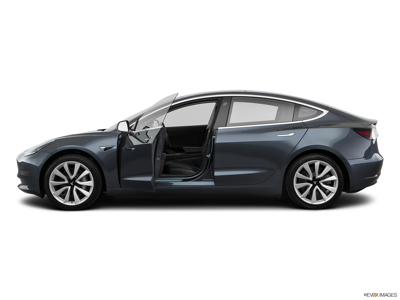 Side view of the Tesla Model 3