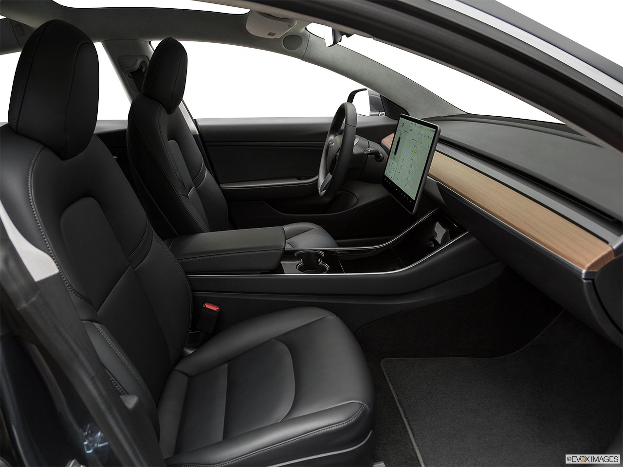 Interior view of the Tesla Model 3