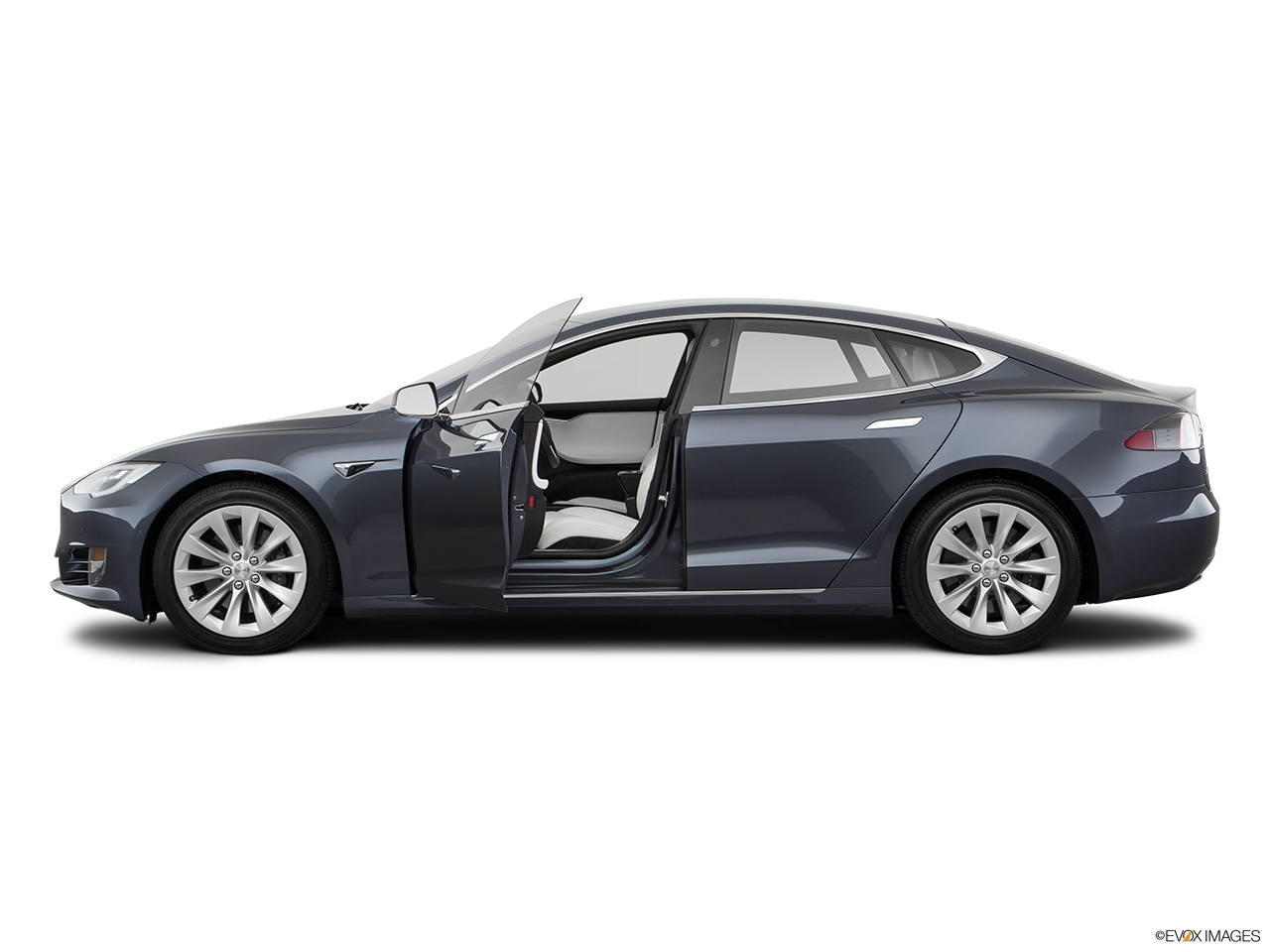 Side view of the Tesla Model S