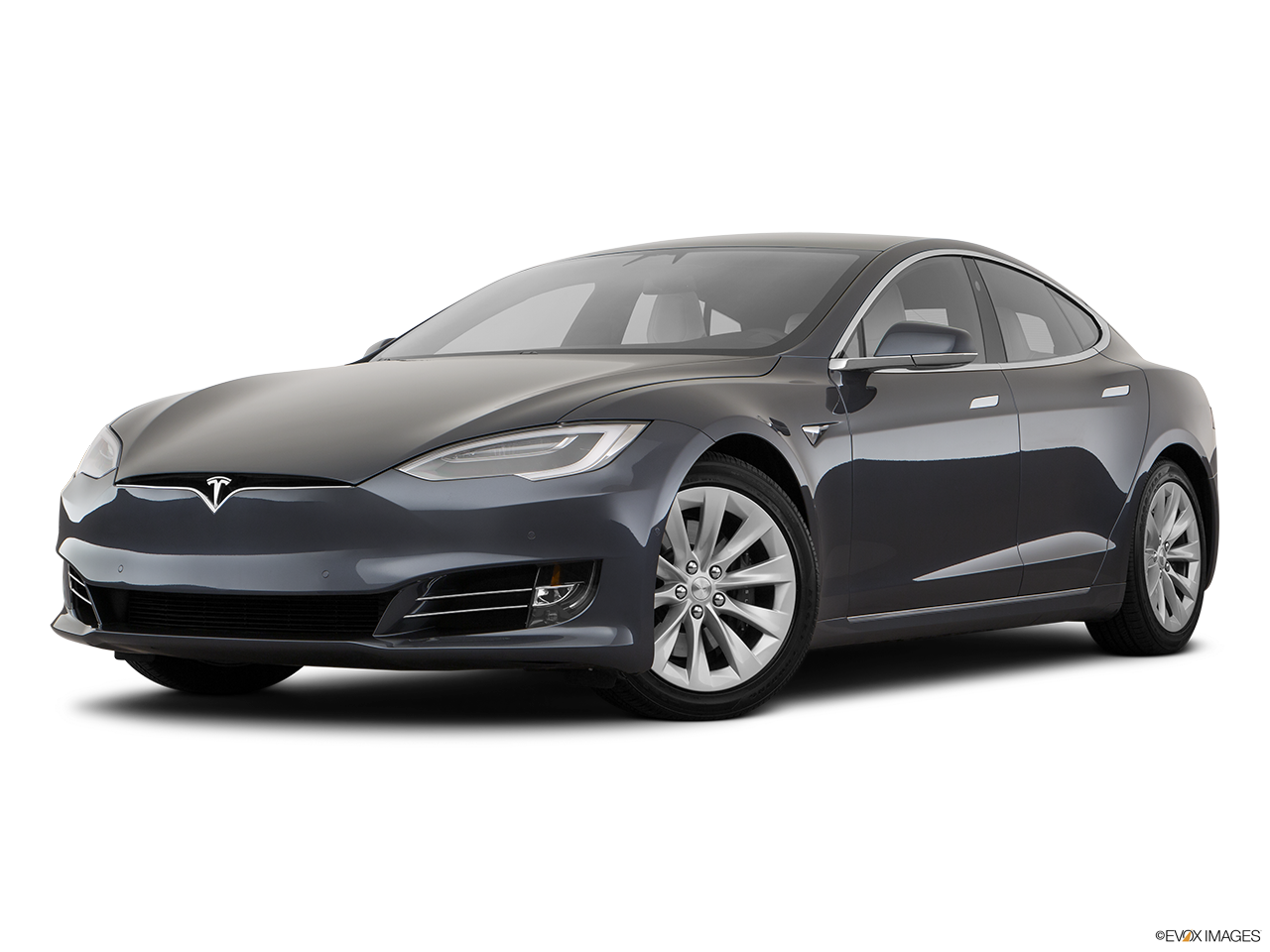 Three quart view of the Tesla Model S