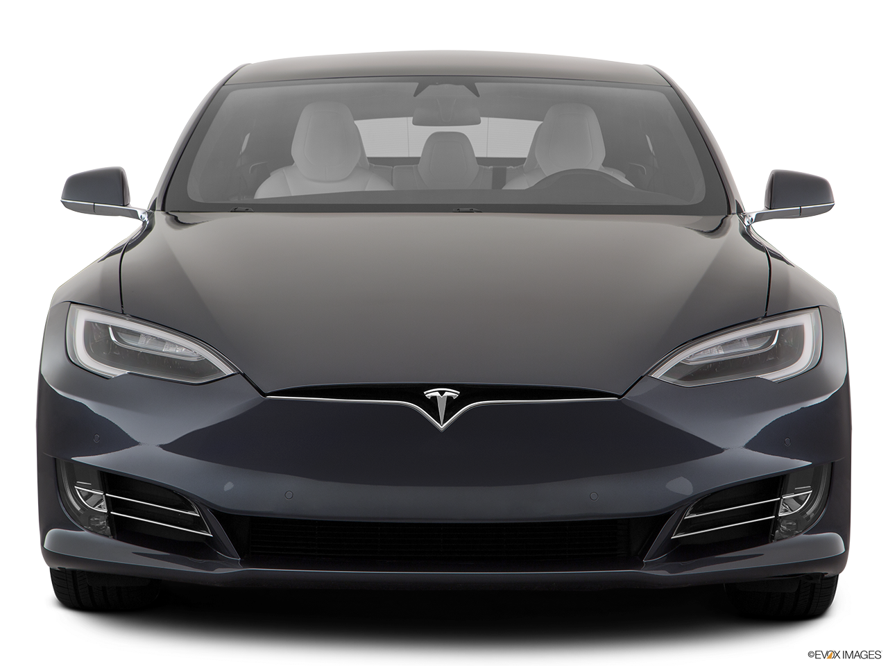 Front view of the Tesla Model S