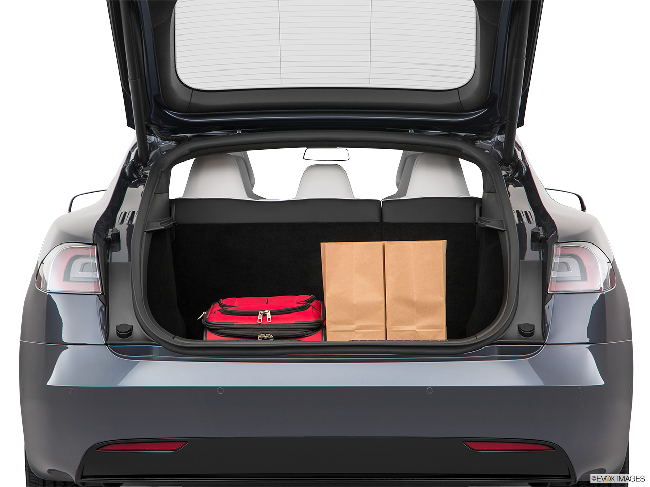 Trunk view of the Tesla Model S