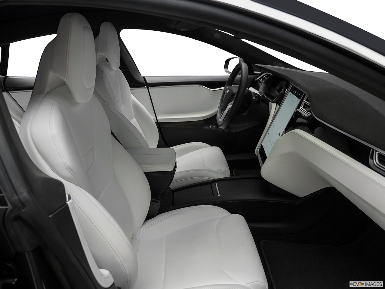 Interior view of the Tesla Model S