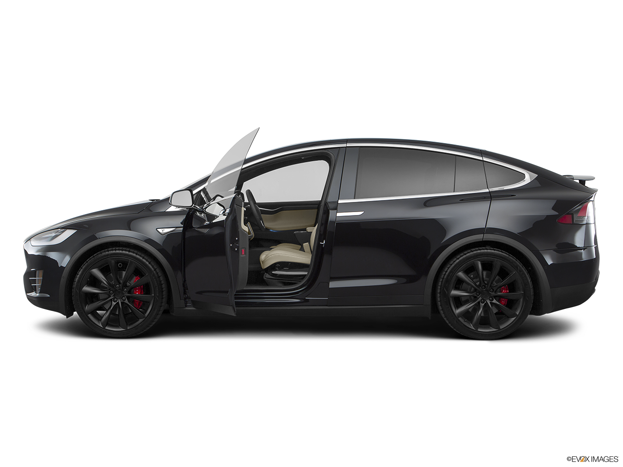 Side view of the Tesla Model X