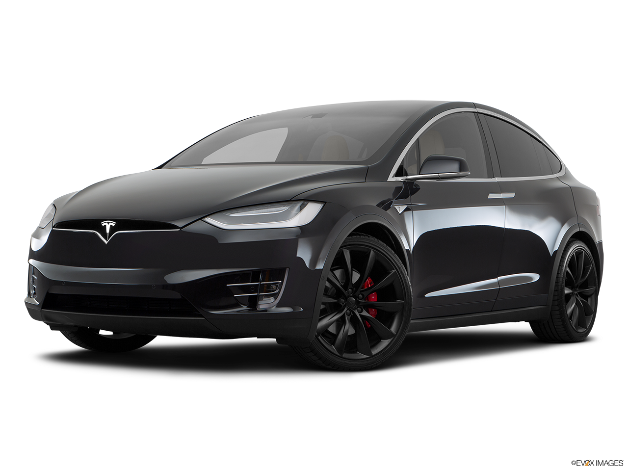 Three quart view of the Tesla Model X