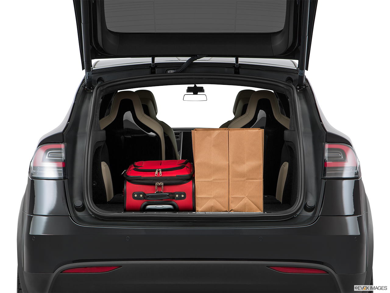 Trunk view of the Tesla Model X