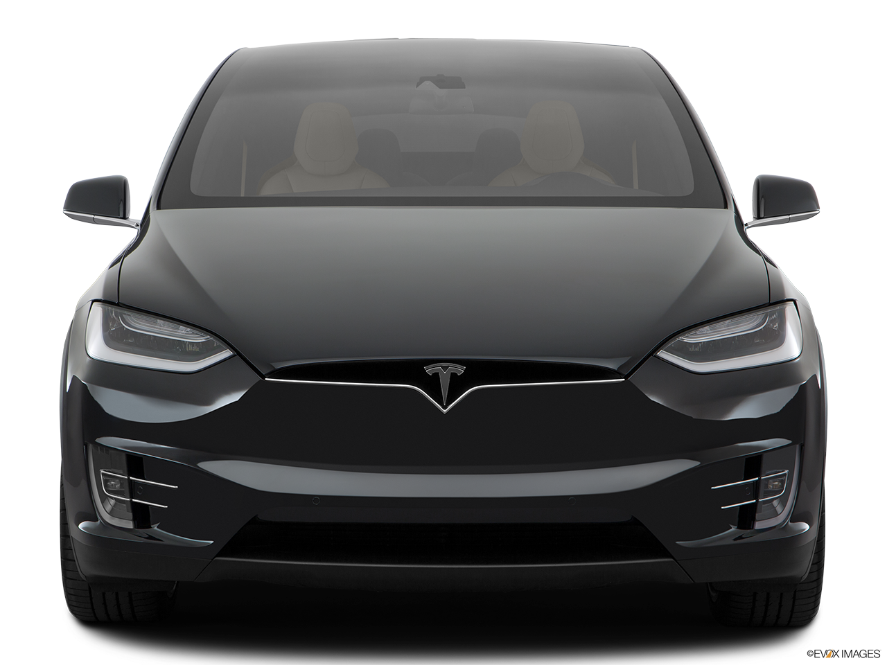 Front view of the Tesla Model X
