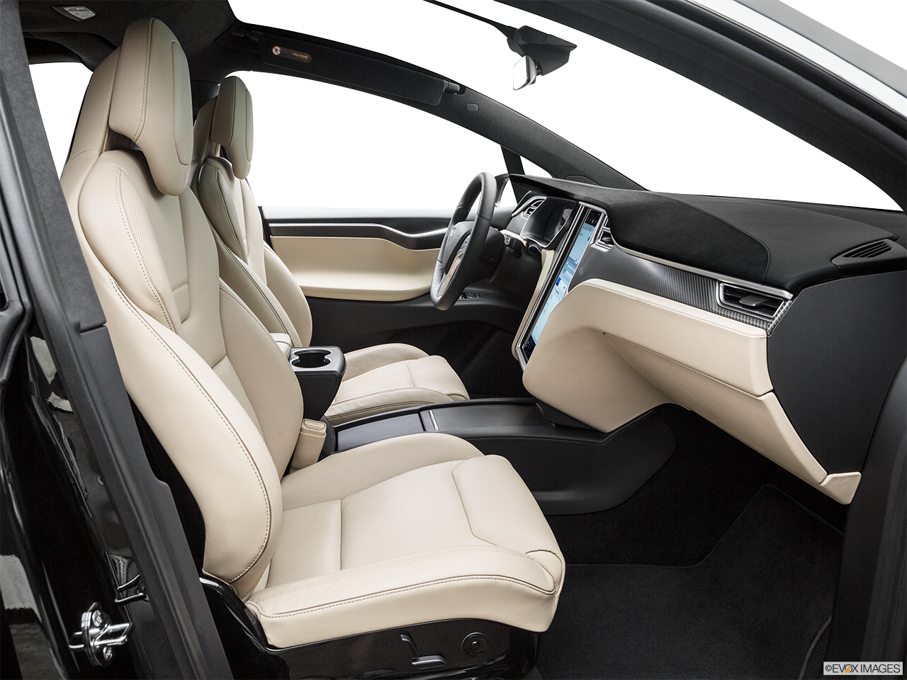 Interior view of the Tesla Model X