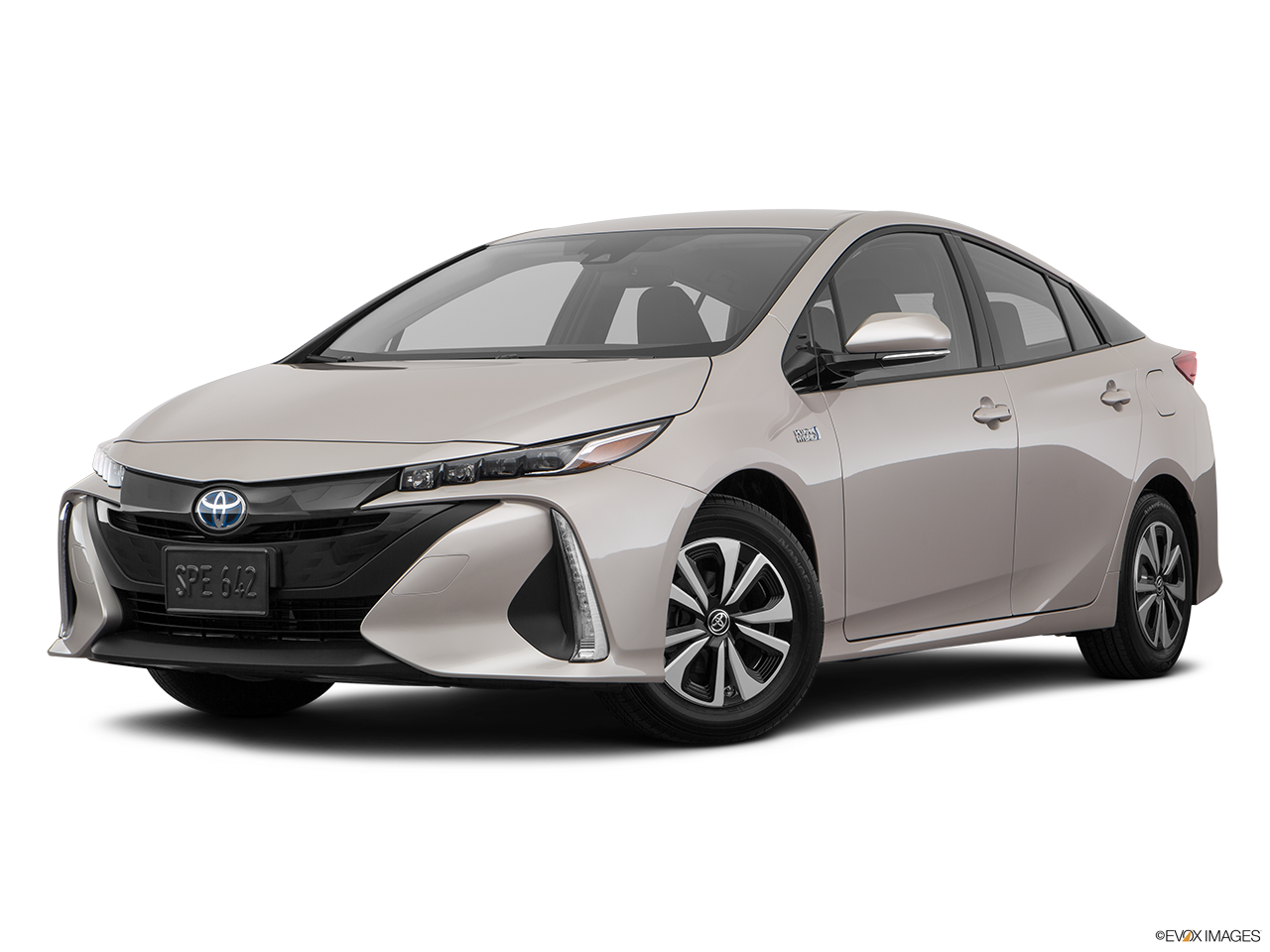 Three quart view of the Toyota Prius Prime