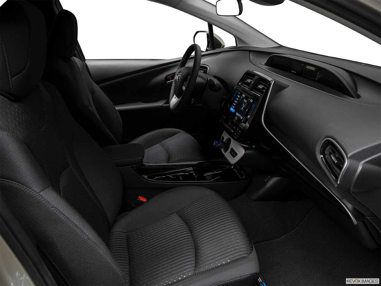 Interior view of the Toyota Prius Prime