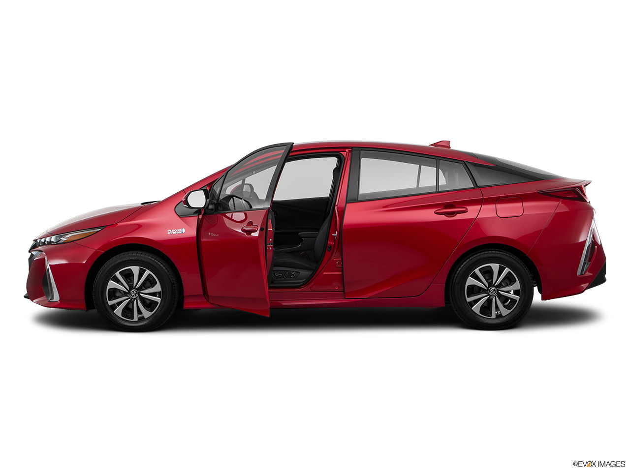 Side view of the Toyota Prius Prime