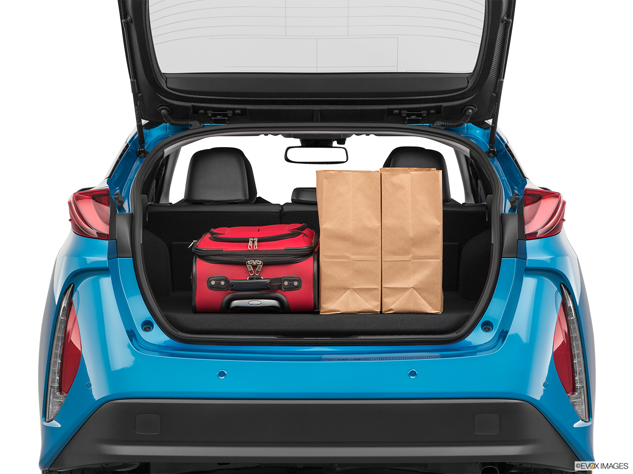 Trunk view of the Toyota Prius Prime