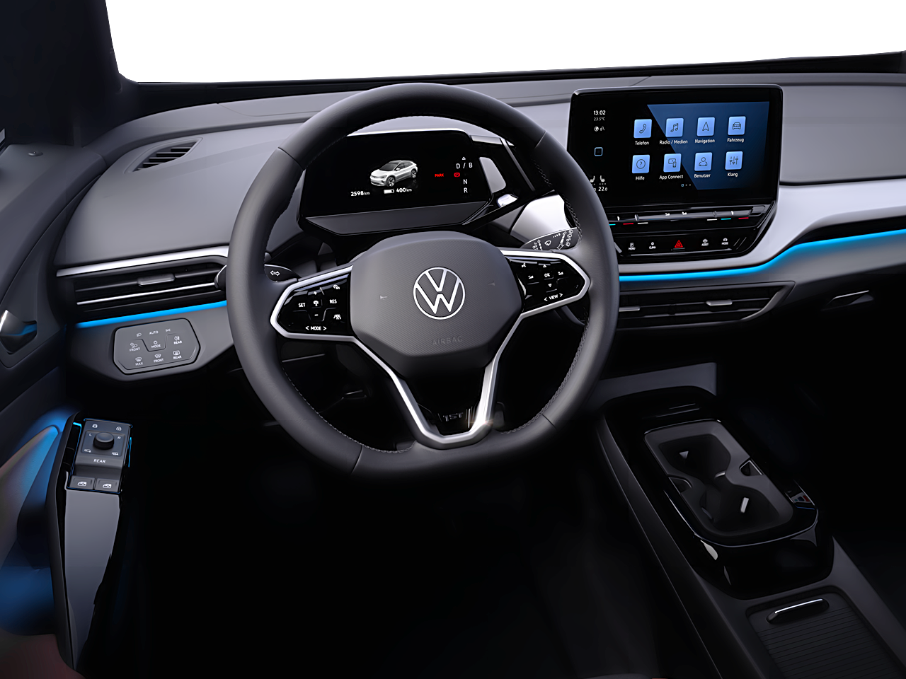 Interior view of the Volkswagen ID.4