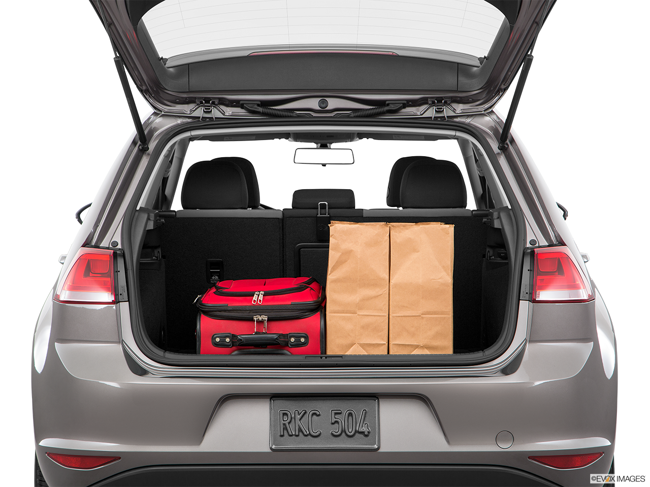 Trunk view of the Volkswagen e-Golf