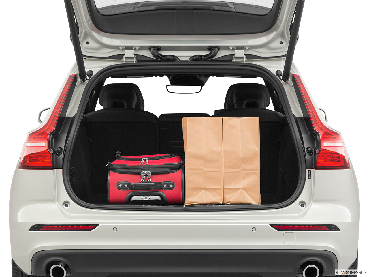 Trunk view of the Volvo V60 PHEV